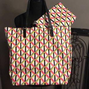 Trina Turk Tote bag with cosmetics bag